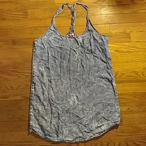 H&M Denim Style Lyocell Dress with Braided straps